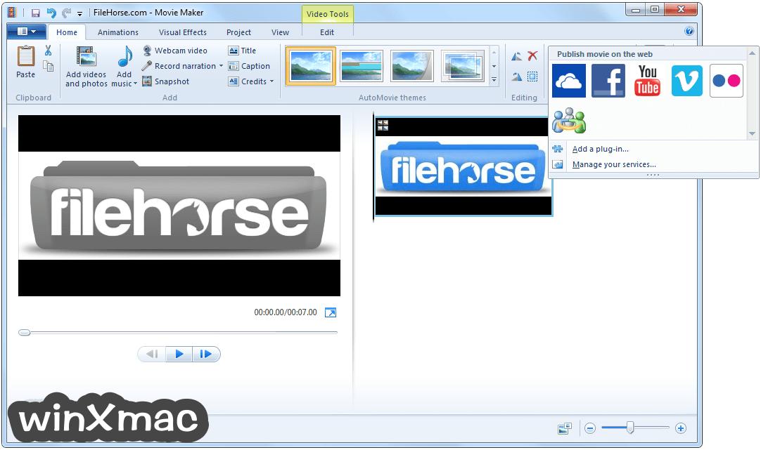 Windows Live Movie Maker Screenshot 3
