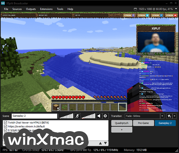 XSplit Broadcaster Screenshot 3