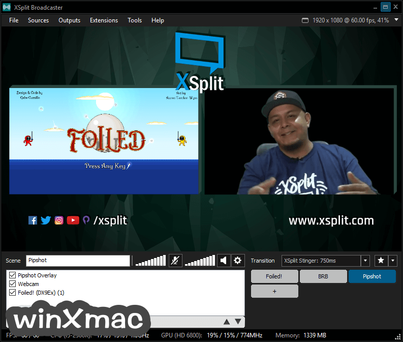 XSplit Broadcaster Screenshot 4